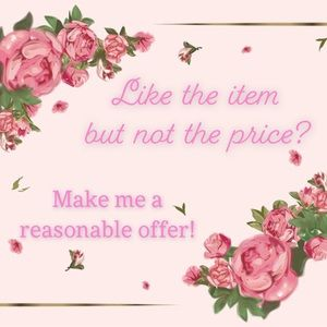 Don't like the price? Make me an offer!